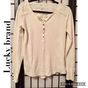 Lucky Brand  Thermal T- Shirts For Woman M